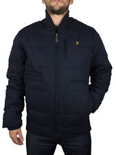 Farah Vintage True Navy Windsor Zip Puffa Jacket