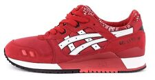 H424N.2301 Asics GEL LYTE III Red Paisley Bandana *New In Box* 100% Authentic