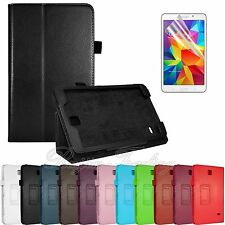 PU Leather Case Cover Stand For Samsung Galaxy Tab 4 8.0 T330 + Screen Protector