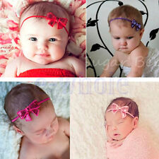 Newborn Kids Girls Baby Toddler Infant Bow Headband Hair Bow Band Accessories DT