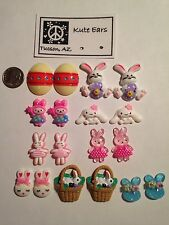 Resin Easter Spring Time Fun Stud Earrings - Free Shipping - Various Colors