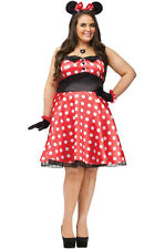 Retro Miss Minnie Mouse Plus Size Costume