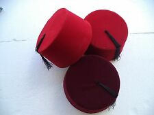 Genuine Fez,Fes Authentic Turkish-Ottoman Hat,Tarboosh, Ottoman Wear 3 Colors