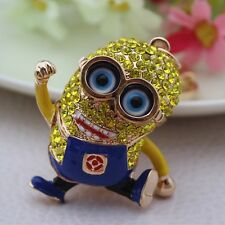 Precious Milk Dad Despicable Me Crystal Keychain small yellow people YSK78