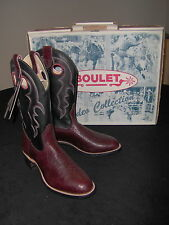 WoMEN'S WINE and BLACK LEATHER BOOTS by BOULET