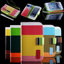 Flip Magnetic PU Leather Wallet Hard Case Cover Pouch For Apple iPhone 4 4S 5 5S