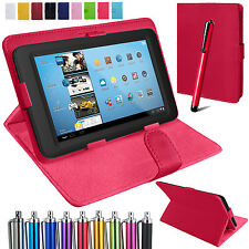 Universal Leather Stand Folding Folio Case Cover Pouch For All 8 Inch Tablets