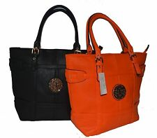 Women New Fashionable Multi Color Leather Tote Handbag