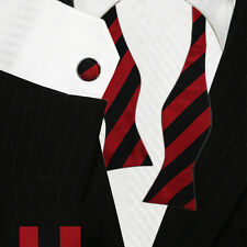 Black & Red Bow Ties | Bow Tie Set | College Bow Ties - High Quality Bowties