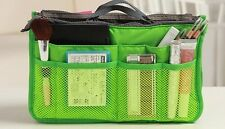 Women's Cosmetic Bag Organizer Handbag Travel Large Liner Insert Tidy Pouch