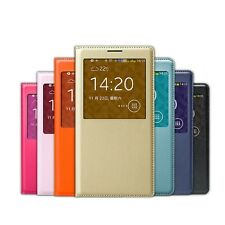 LUXURY S-VIEW Window LEATHER Case Cover for SAMSUNG GALAXY NOTE 3 Neo Lite Mini