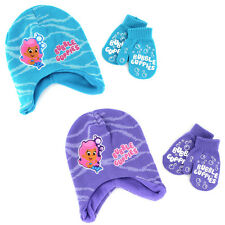 Bubble Guppies Toddler Hat with Mittens Set BGF35612ST One Size