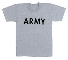 US Army T-shirt Vintage GREY Infantry Cavalry Armor Airborne PT Workout Gray