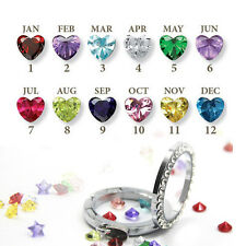 Wholesale 10pcs each month Birthstone Floating Charm For Living Memory Locket
