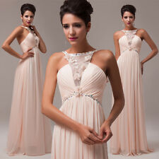 ❤Boat Neck Style❤ Long Prom Cocktail Party Dress Bridesmaid Formal Evening gown