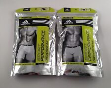 NIP ADIDAS MENS 2 PACK SPORT PERFORMANCE TRUNK or BOXER BRIEFS UNDERWEAR $24