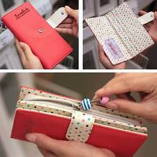 Women's Girls Lady Sweet Cute Short Long Purse Clutch Wallet Zip Bag Card Holder