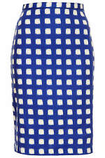 Topshop Blurry Check Pencil Skirt