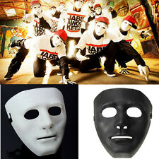 Halloween Festival Party Mask White Black Blank Full Face Mask Prop Costume