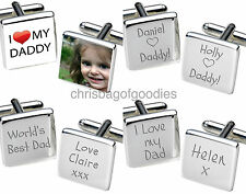 PERSONALISED I WE LOVE MY OUR DAD DADDY Cufflinks Gift for Birthday Fathers Day
