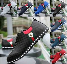 Winter Men's Casual Leather Breathable Lace Loafers Athletic Running Shoes C168