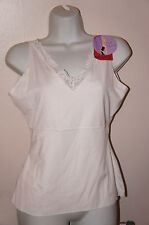 NEW w/ tags SPANX Hide & Seek Lace V Neck Camisole 144P 144 WHITE