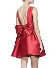 $448 Kate Spade NEW YORK OPEN BACK SILK MINI Cocktail DRESS with large back bow