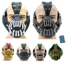 TDKR Dark Knight Bane Mask Tom Hardy PVC Cosplay Helmet Voice Changer Christmas