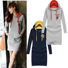 2014 Women Sport Suits Hoodie Jumper PUllover Slim Bodycon Mini Dress Long Coat