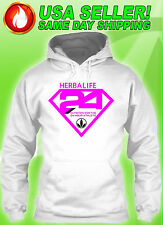 HERBALIFE S 24 S,M,L,XL,2XL,3XL UNISEX SWEATERS HOODIE PINK LOGO FREE TEXT *NEW*