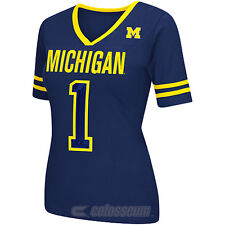 COLOSSEUM Women's Michigan Wolverines Disco Jersey Short-Sleeve T-Shirt