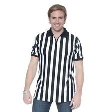 Men's Referee Shirt Uniforms for Sports Bars with Collar & Zip Front