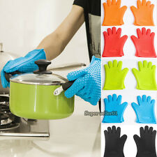1PCS Kitchen Reusable Heat Resistant Glove Oven Pot Holder Baking Cooking Mitts