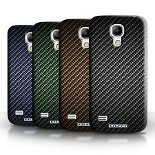 Phone Case Hard Back Cover for Samsung Galaxy S4 Mini / Carbon Fibre Design