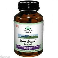 Organic India Bowelcare Relieve Constipation Certified Organic Herbs Veg Capsule