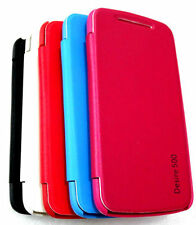 High Quality Branded Flip Flap Cover Case for HTC DESIRE 500