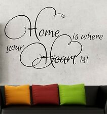 Wall Tattoo Sayg. Home Is Where Your Heart Hallway Quotes Wall Tattoo Letter 6f