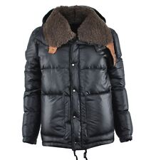 DOLCE & GABBANA Stuffed Fur Winter Jacket Black Veste d'Hiver Noir 02689