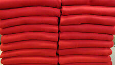 "RED Fleece Throw Lightweight Blanket 50"" x 60"" Promo Wholesale Lot"