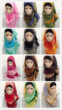 Beautiful Multicolor Muslim Long Scarf Hijab Islamic Shawls Wholesale Retail