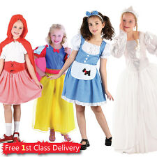 Girls Book Day Fancy Dress Costumes Storybook Princess Kids 4-13y Fairytale New