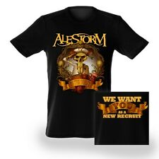 ALESTORM - IN THE NAVY - IMPORT 2 SIDED BAND SHIRT NEW
