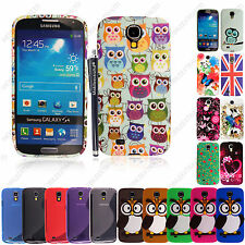 For Samsung Galaxy S4 i9500 New Silicone Rubber Gel Back Skin Case Cover +Stylus