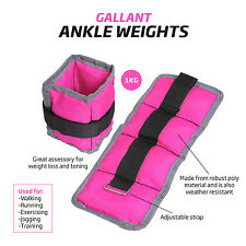 Wrist Ankle Weights Women Resistance Strength Training Exercise Bracelets Pink