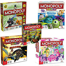 NEW! MONOPOLY JUNIOR BOARD GAME / CHILDRENS GAMES - VARIOUS EDITIONS TO CHOOSE