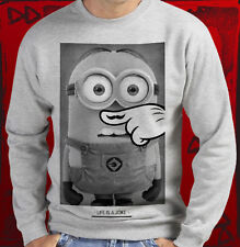 MINION LIFE IS JOKE SWEAT SHIRT UNISEXE ONE SWAG HIPSTER OBEY DISOBEY MINIONS