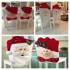 MR & MRS SANTA CLAUS KITCHEN TABLE CHAIR COVERS CHRISTMAS HOLIDAY HOME DECOR
