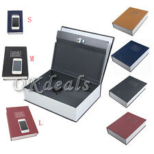 Deluxe Security Dictionary Book Case Cash Money Jewelry Safe Storage Box Lock