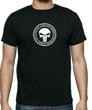 """Marvels PUNISHER """"God Will Judge...""""  T-shirt .. available in sizes up to 5XL."""