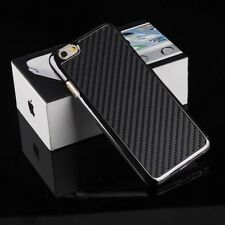 "For Apple iPhone 6 4.7""/Plus 5.5"" Carbon Fiber Leather Back Case Fitted Cover"